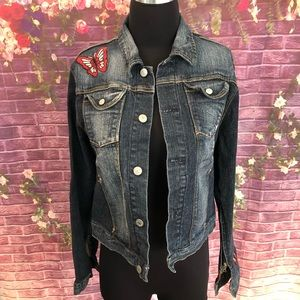 7 for all Mankind Embroidered Butterfly Jacket M